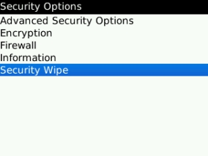 Security Wipe